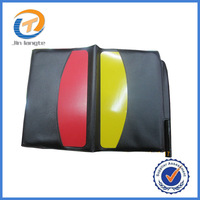 Professional Soccer Referee special red yellow cards + transparent PVC jacket + Pencil wholesale free shipping 30PCS/LOT