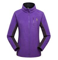 Purple/Pink 2014 Women's Jackets,Good Quality Brand Female Outdoor Hunting Clothing,Women's Winter Hiking Fleece,Cardigan Coat