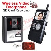 4GB SD Card 2.4G wireless 2.4inch video doorphone record doorbell photo record intercom system