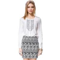 FS2865 Autumn New Fashion Long Sleeve Causal Simple Blouse Shirt