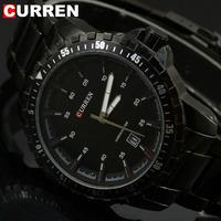 2014 Stainless Steel Band Mens Quartz Calendar Wrist Watch Luxury Sport Analog Watch Free Shipping 8099