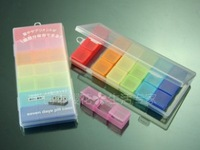 Free shipping Portable rainbow color  pill box case/Drug holder,pill case Organizer Container,CY-PCS06