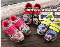 2014 spring and autumn new male and female children sports shoes casual shoes children's casual canvas shoes