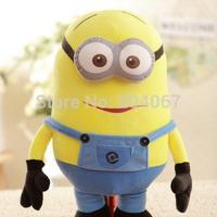SUPER SIZE 80CM Yellow Man doll Fof XAMS GIFT  Despicable Me  s stuffed  plush3D eyes  1pcs