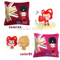 England square series cartoon plush pillow car cushion sofa cushion creative vehicle Pillow