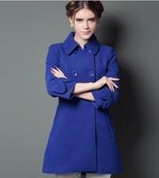 2014 winter new Korean ladies woolen fur collar and long sections woolen coat thick coat Nizi NDX146 Y9W