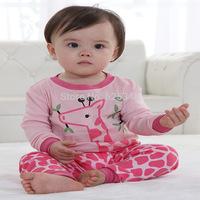 Retail Long Sleeve Kids Pajamas Sets Baby Clothing set Girls pyjamas 100% Cotton Princess Design Sleepwear 2-7 age