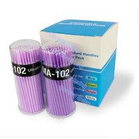 100pcs/Pack 1.5mm Disposable Makeup Brushes Swab Micro Brushes Eyelash Extension Tool Individual Lash/Glue Removing Tool