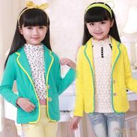 New autumn winter Fashion Children's Girl Princess coat girl jacket kids suit size 110-160 Free Shipping