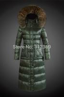 High Quality Fashion Brand Long Women Down Jacket Warm Fur Collar 2015 New Winter Jacket Women Duck Down Coat Lady Down Parka