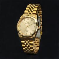 New Arrival 2014 Luxury Brand Steel Men Gold Quartz Watch Rhinestone Wristwatch Male Clock Men Tag Hours reloj relogio masculino