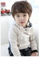 New Fashion kid clothing 95% Cotton boy long sleeve light grey sweatshirts boy autumn and winter Casual hoodies 2 to 7 year-old