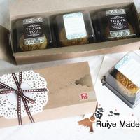 Free Shipping 21.5*7*4.3cm 80pcs/lot Mooncake cake Cookie kraft paper packaging boxes