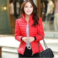 Winter women coat 2014 new brand fashion jacket luxury overcoat warm thicken down-cotton slim parka jackets B2001