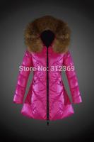 New Fashion 2015 Womens Winter Jacket Brand Slim Down Jacket Fur Collar Hooded Down Coat Women's Down Parka Warm Outerwear
