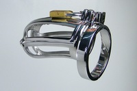 Male Double Chastity Device Cock Cage A929 New Style Anti-Shedding With Barbed Ring  + 1pc  anal plug  sale promotion