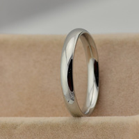 The low price wholesale Korean version of smooth titanium ring / ring / Weijie tricolor optional silver JZ-041