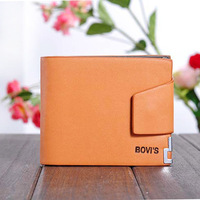 Genuine Leather Korean Style Brand Cowhide Men's Wallet Multifunctional Short Design Man Wallet Zipper Coin Purse Card Holder 1