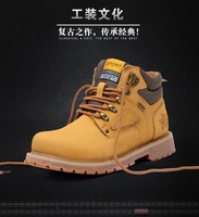 2014 New Arrival Genuine Leather Winter Men Outdoor Shoes Tooling Shoes Plush Cotton Shoes Waterproof Wearproof Warm Causal