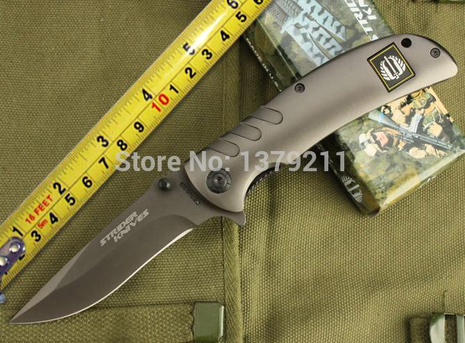 Free shipping strider 318 hunting Rescue knives folding pocket hunting knife E148(China (Mainland))