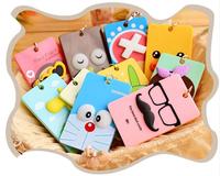 Fashion new Creative 3D Cartoon Key Chain Cute Portable Card Pack 15 Colors U pick