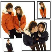 2014 Fashion Sweethearts Outfit Family Clothing Warm Short Fur Collar Women Coats Men Jackets YFZ17
