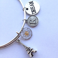 November Birthstone Charm Bangle Alex and Ani Wiring Bracelets Topaz Crystal Charm Antique Silver Plated