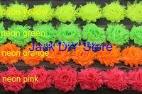 "DHL Free Shipping 36yards/lot 18colors 1.5"" Mini shabby chiffon rose trim,chiffon frayed flowers,hair accessories"