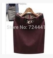 2014 Women Suit Skirts Mid Waist Causal Work Straight Skirts Ladies Business Autumn Winter Wool Blending Skirt Woolen Skirt
