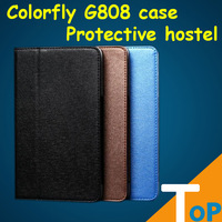 Colorfly G808 3G case High quality silk luxury leather case cover for Colorfly G808 3G tablet cover FreeShipping & Wholesale