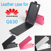 New! Huawei G630 leather Case + free screen protector+Free Ship! Flip Up and Down Cover