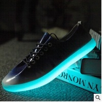 2014 NEW man's Lighted runnning shose cheap sell running shoes Men's Sport shoes Size 40-44 Fashion