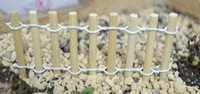 wooden artificial small fence crafts&gifts decoration for micro landscape plants and potted Succulent