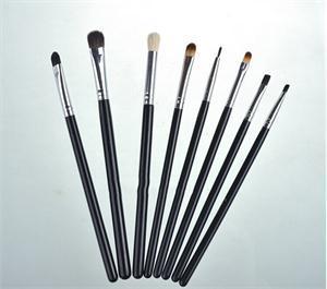 2015 High Quality Black Handle Professional Eye Shadow Makeup Brushe Tools Kit Eye Angled Smoked Brushes Set 8pcs(China (Mainland))