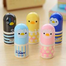 3215  School supplies Sweet Cartoon Duck Penguin Stationery Correction Fluid ~Random Color~ 1PC(China (Mainland))