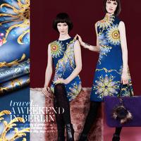 2014 NEW design printed elastic silk charmeuse satin fabric for high quality silk dress