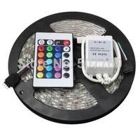 LED Strip light 5M 300 Leds 60led/m SMD 5050 RGB LED waterproof Lamps+24 key rgb Controller ws2812 led lights