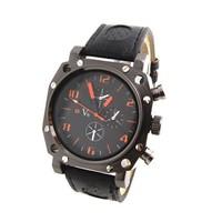 Wholesale Men WristWatches V6 fashion leather strap quartz watch sports watches men V1