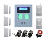 Quad-Band GSM PSTN LCD Display Wireless Home Security Alarm Burglar System,free Shipping