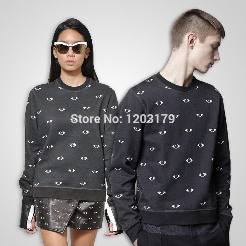 Fashion New Thicken women/men Winter Hoodies Eyes Printed Couples Sweatshirts Long-sleeve Harajuku Pullover Hoody(China (Mainland))