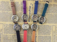 5pcs/lot 2014 New fashion women to look at old style leather watch quartz watch the Eiffel Tower