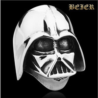 Star Wars Darth Vader mask shape Men man  ring Jewelry High Quality 316L STAINLESS Steel TG726 (US Size 8-14)