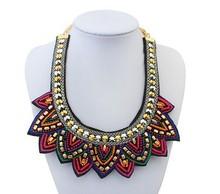 Colorful bead false collar necklace/sale kpop boho chic ladies necklace maxi wholesale/maxi colar/collier/bijoux/joias/bijuteria