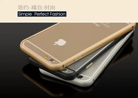 Hippocampal Buckle Ultra-Thin Metal Bumper Case Cover for Apple iPhone 6 4.7 with hard carton Package