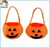 Hot Sale 5pcs/lot Fashion Halloween Pumpkin Smiley Bags Halloween Supplies Gift Handbags Candy Packaging Bags For Children