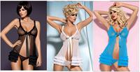 Free shipping Women's Sexy Lingerie Sleepwear Underwear Dress+G-string,Sexy Chemise, Sexy Intimates