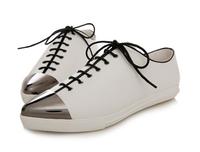718-1 Fashion Women Flats Metail Point Toe Cross Lace-up Casual Shoes Women Shoes