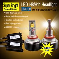 High quality super bright 3200lm H8/H11 LED car headlight 1 set