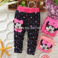 Minnie Warmly Comfortable Pencil Pants Children's Baby Velvet Trousers(4Pcs/lot) Kid Tight Pants & Capris [iso-14-9-15-A4]