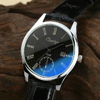 fashion brand Blue glass man watch waterproof really belt male students watch quartz watch table calendar mans watches